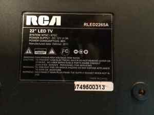 """RCA 22"""" led tv for repair or parts Kitchener / Waterloo Kitchener Area image 2"""