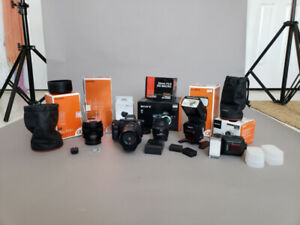 PRO STARTER PACKAGE - Sony A7II + PRO LENSES + 2 FLASHES + ACCES