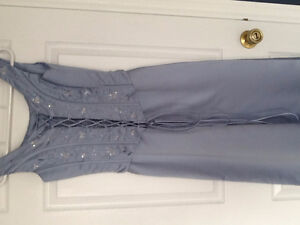 Beautiful blue dress with sequins for prom or wedding party