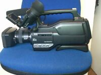 As new (used once) SONY HVR HD1000E Professional Camcorder with carry case
