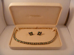 Vintage D'Orlan Necklace And Earring Set