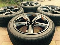 """Genuine 17"""" RONAL Audi A3 A4 SLine Alloy wheels And Tyres VW Golf Caddy T4"""