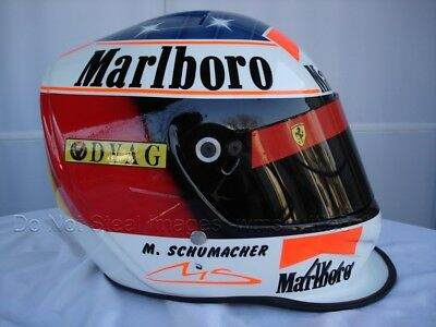 Michael Schumacher 1996 F1 Replika Helm Größe Helm Casque Casco gebraucht kaufen  Versand nach Germany