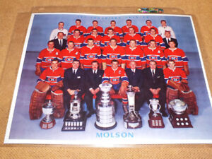 MONTREAL CANADIENS COUPE STANLEY CUP PHOTO