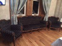 Louis style 3 piece suite