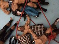 WWE VINTAGE FIGURES, BELTS ETC