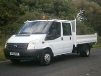 2013(13) Ford Transit T350 LWB DOUBLE CREW CAB TIPPER, 48000 MILES, FINANCE??