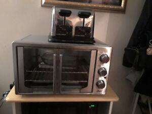 French door countertop oven
