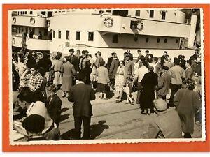 ANCIENNE-PHOTO-NOIR-E-BLANC-DEPART-CHALUTIER-BELLE-NORMANDIE-1954-FECAMP-N-5