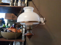 Antique swag lamp