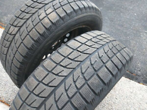 2 Bridgestone Winter Tires for Sale with Rims, 225/60/16