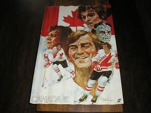 1976 CANADA CUP HOCKEY POSTER SET OF 6 - TEAM CANADA
