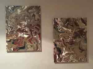 Set of 2 Original Abstract Acrylic Paintings