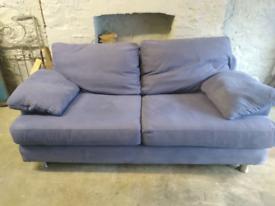 Sofa fabric blue