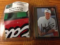 Mark Martin #6 auto card and race used authentic sheet metal