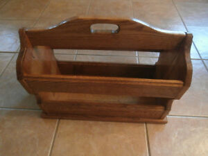 REDUCED!!!!!!!!!!!! Amish Made Solid Oak Magazine Rack Windsor Region Ontario image 3
