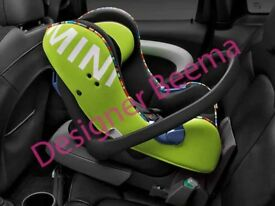 MINI Genuine Baby Child Safety Isofix Car Seat Group 0+ Vivid Green