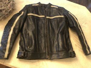 Leather unisex motorcycle jacket xl