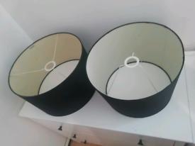 2x black light shades.