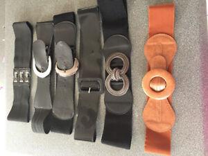 Lot de ceintures