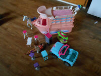 barbie yacht. barie jeep and accessories.