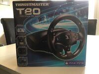 Thrustmaster T80 racing wheel PS4 £55