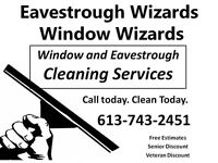 Eavestrough and Window Cleaning Service Call today~Clean today