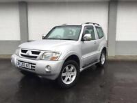 2003 03 Mitsubishi Shogun 3.2DI-D auto3 DOOR Warrior IN SILVER 4X4