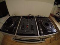 2x Pioneer CDJ 1000 MK3/ Allen Heath Xone 22 mixer with stand and flight case.