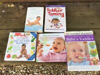BABY/TODDLER COOK BOOKS BUNDLE ANNABEL KARMEL ETC