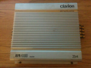 Clarion pro-audio 4 channel 100W (4x25W) amplifier and more!