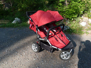 Tike Tech double jogging stroller