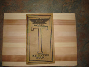 Model T Ford Instuction Book