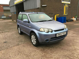 2002 Honda HR-V 1.6i 3 DOOR,COMPLIMENTED WITH A NEW MOT CERTIFICATE,NICE DRIVE,