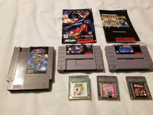 Misc NES/SNES/GBC Games and Manuals