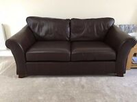 MARKS & SPENCER M&S Abbey 2 seater brown leather sofa RRP £1500
