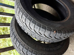 pair of 205/70r 15 winter tires, lots of thread.