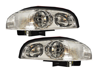 Headlights Pair Set New Fits 97-2005 Buick Park Avenue Ave