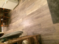 Renovations, Laminate flooring, and tile installations.