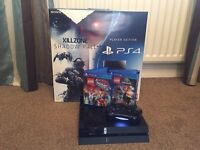 PS4 Console - with upgraded 750gb SSD Hybrid hard drive (loads games faster and increased storage).