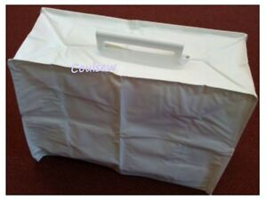 SEWING MACHINE DUST STORAGE COVER  STRONG QUALITY PVC WHITE - BROTHER JONES etc