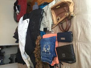 Lot de Vêtements femme, fille et autres items de marque à vendre