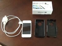 White Iphone 4S 16G with Otter box case for sale
