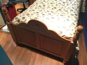 Single bed with night table