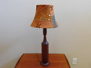 Mid Century Teak Genie Bottle Style Table Lamp Kitchener / Waterloo Kitchener Area image 1