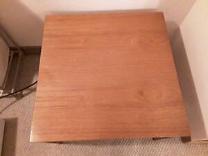 PAIR OF TEAK END TABLES
