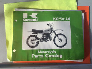 1978 Kawasaki KX250-A4 Motorcycle Parts Book
