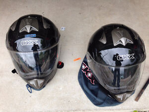 2 helmets for sale  $60.00 each