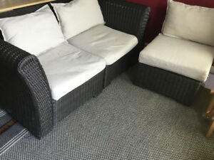 OUTDOOR PATIO SOFA AND CHAIR