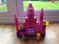 Musical Duplo style pink castle